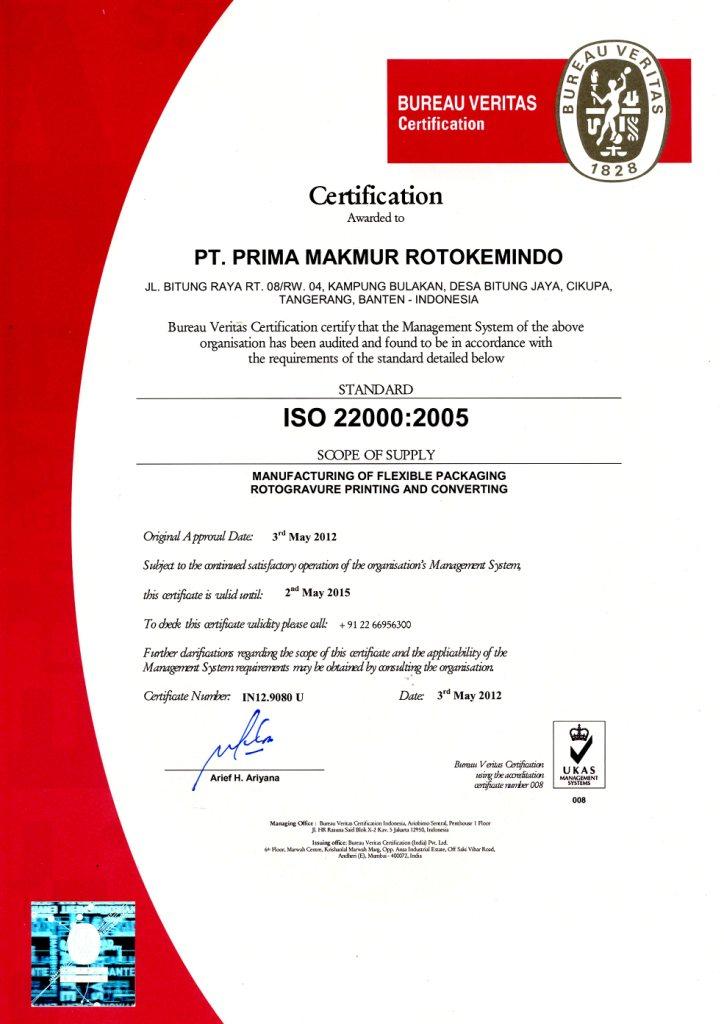 Our Achievements Prima Makmur Rotokemindo